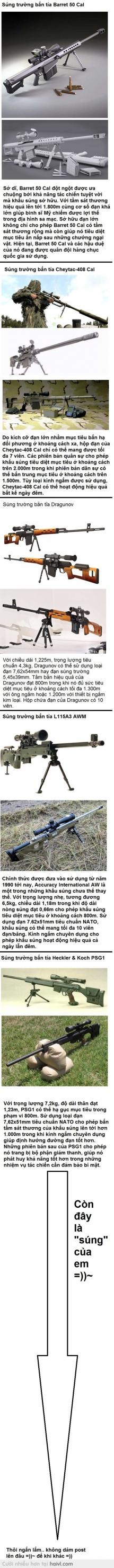 Những khẩu súng bắn tỉa đáng sợ nhất thế giới :)