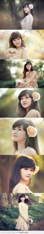 """Vẻ đẹp trong sáng của một cô gái được gọi là """"thiên thần"""" ♥..."""