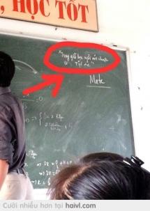 """Trong giờ học ngồi nói chuyện là"""" tội ác"""" =)))"""